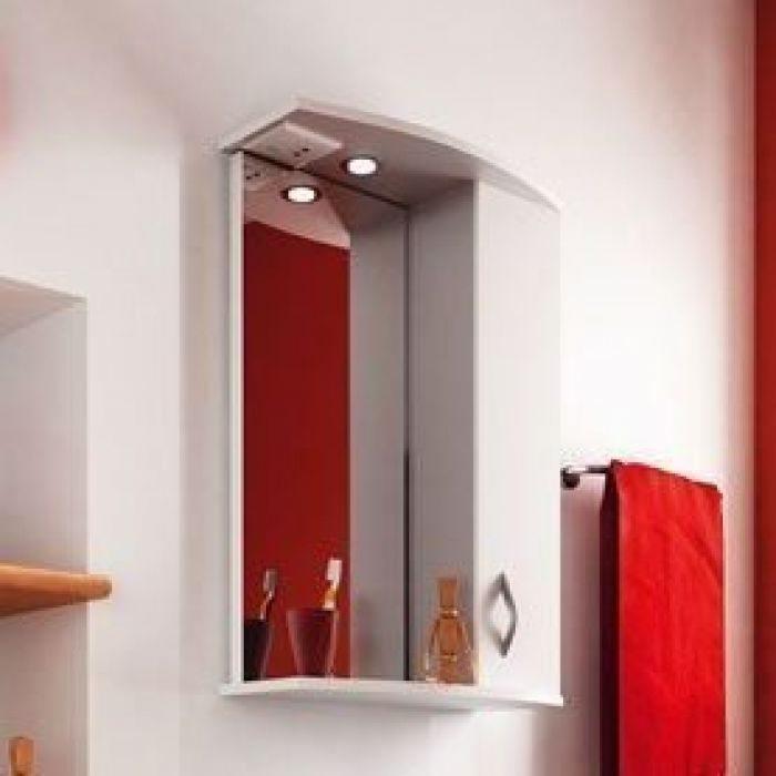 Зеркало для ванной комнаты ORIO Диана 45 (цвет белый)