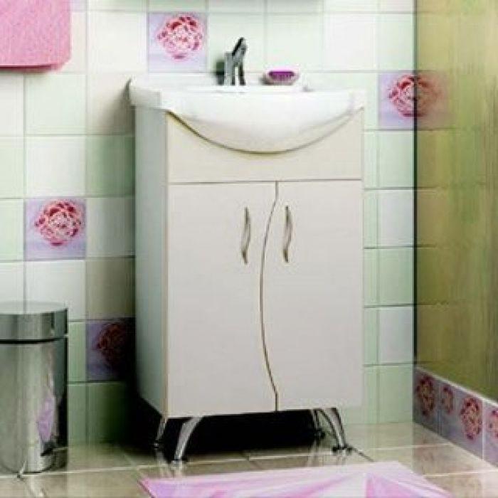 Тумба с раковиной для ванной комнаты ORIO Диана 50 (цвет белый)