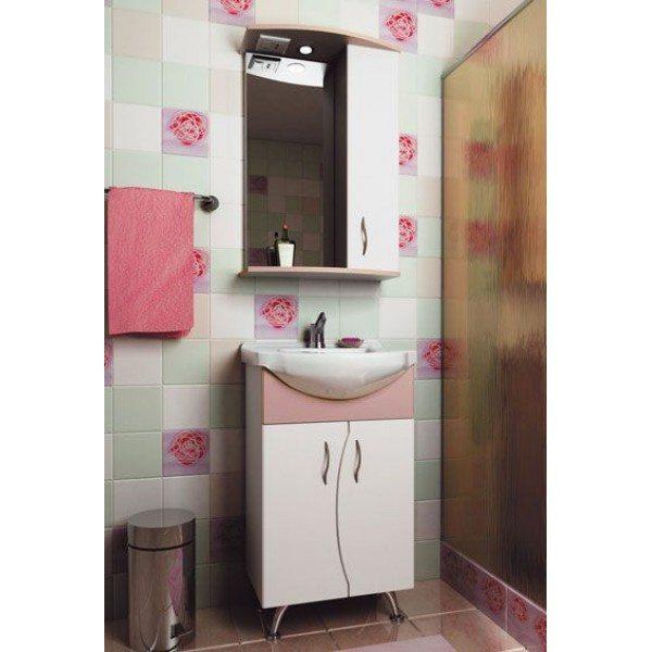 Комплект мебели для ванной комнаты ORIO Диана 50 (цвет белый/абрикос)