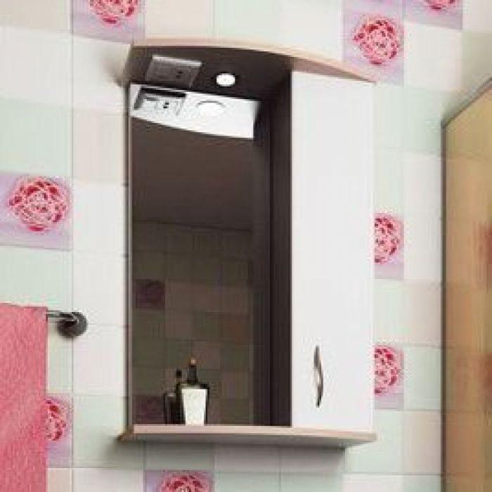 Зеркало для ванной комнаты ORIO Диана 50 (цвет белый/абрикос)