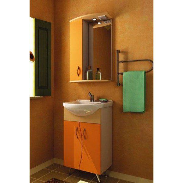 Комплект мебели для ванной комнаты ORIO Диана 50 (цвет мандарин/бежевый)