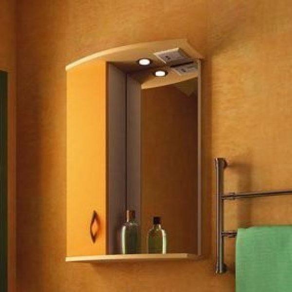 Зеркало для ванной комнаты ORIO Диана 50 (цвет мандарин/бежевый)
