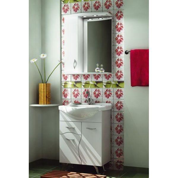 Комплект мебели для ванной комнаты ORIO Диана 60 (цвет белый)