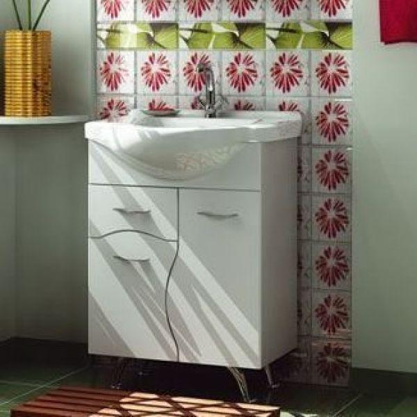 Тумба с раковиной для ванной комнаты ORIO Диана 60 (цвет белый)