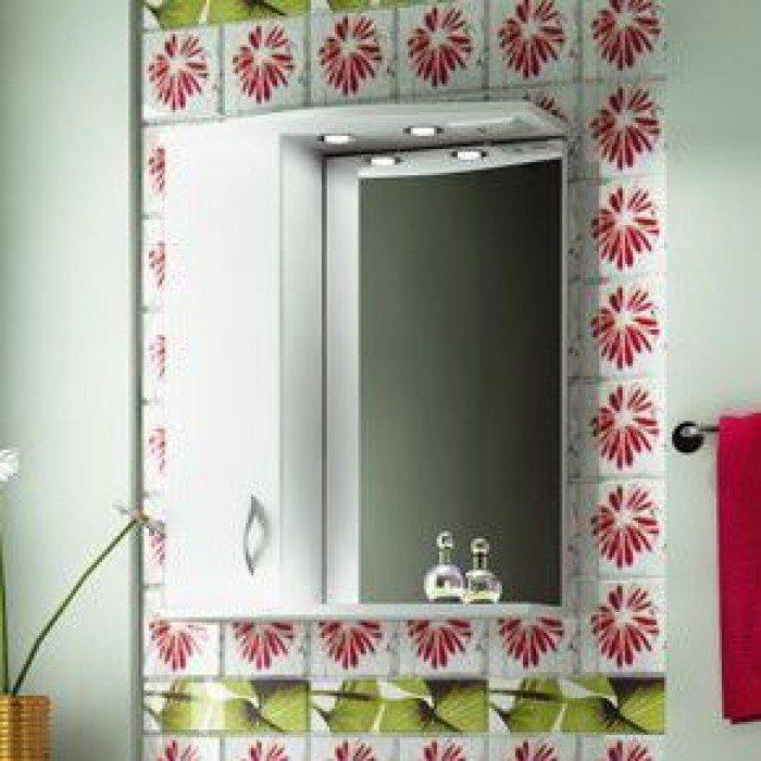 Зеркало для ванной комнаты ORIO Диана 60 (цвет белый)