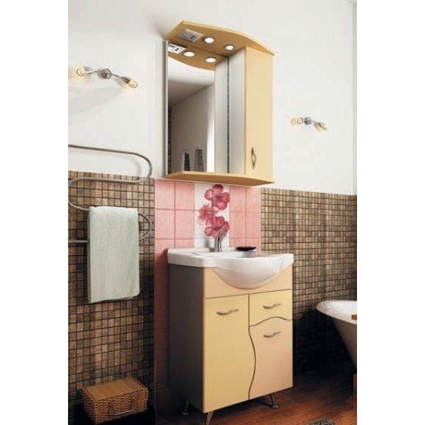 Комплект мебели для ванной комнаты ORIO Диана 60 (цвет абрикос/бежевый)