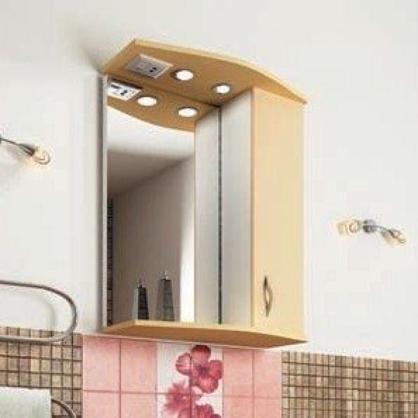 Зеркало для ванной комнаты ORIO Диана 60 (цвет абрикос/бежевый)
