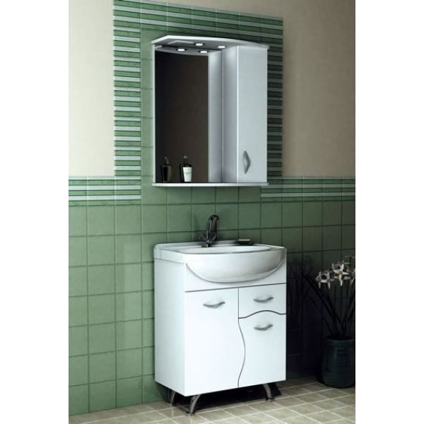 Комплект мебели для ванной комнаты ORIO Диана 65 (цвет белый)