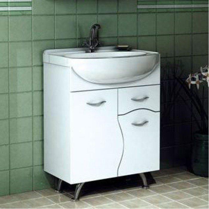Тумба с раковиной для ванной комнаты ORIO Диана 65 (цвет белый)