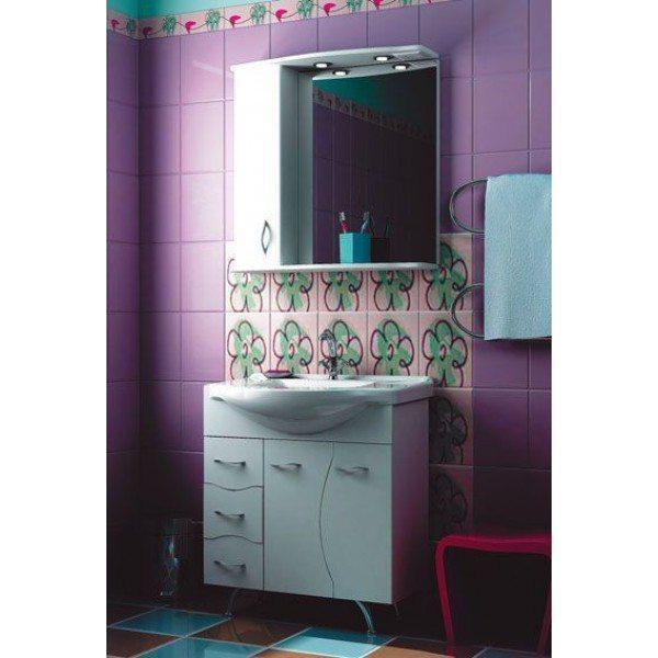 Комплект мебели для ванной комнаты ORIO Диана 75 (цвет белый)