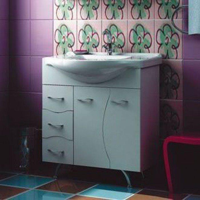 Тумба с раковиной для ванной комнаты ORIO Диана 75 (цвет белый)