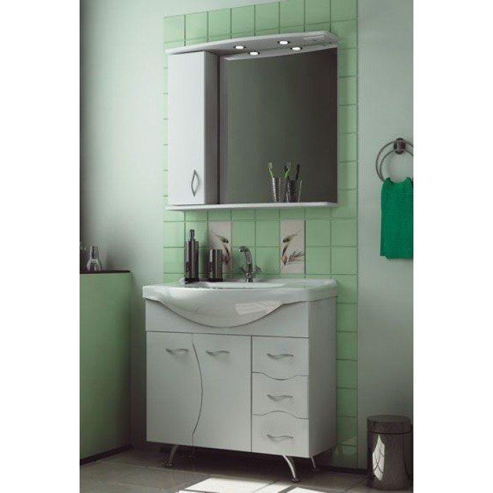 Комплект мебели для ванной комнаты ORIO Диана 85 (цвет белый)
