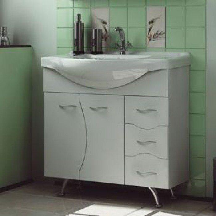 Тумба с раковиной для ванной комнаты ORIO Диана 85 (цвет белый)