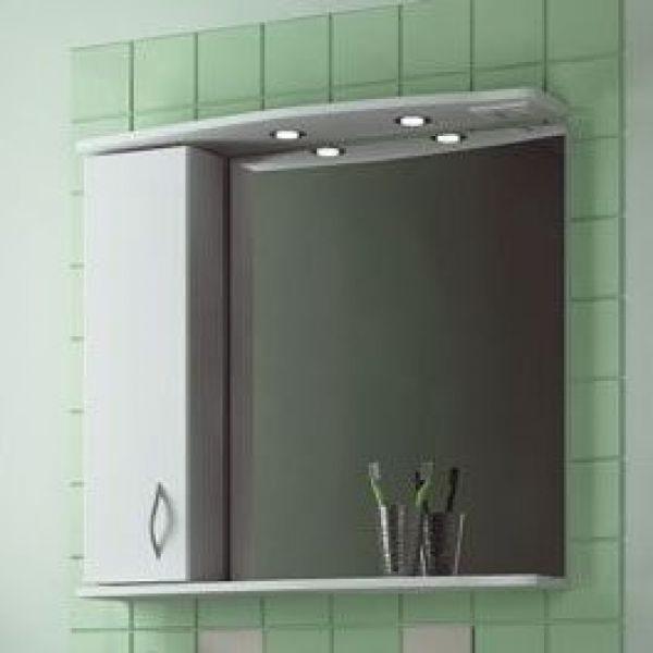 Зеркало для ванной комнаты ORIO Диана 85 (цвет белый)