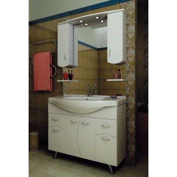 Комплект мебели для ванной комнаты ORIO Диана 105 (цвет белый)