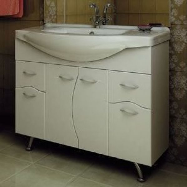 Тумба с раковиной для ванной комнаты ORIO Диана 105 (цвет белый)