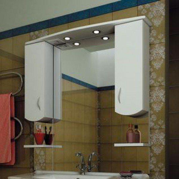 Зеркало для ванной комнаты ORIO Диана 105 (цвет белый)