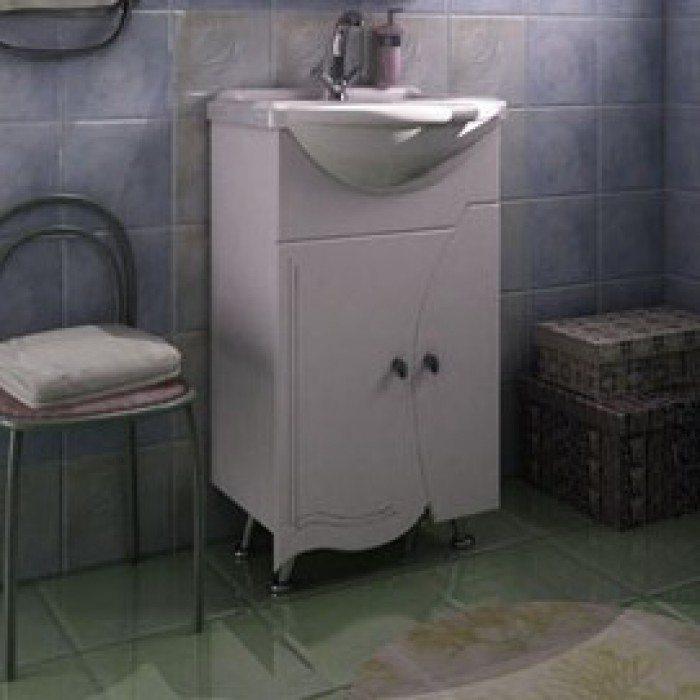 Тумба с раковиной для ванной комнаты ORIO Камея 50 (цвет белый)