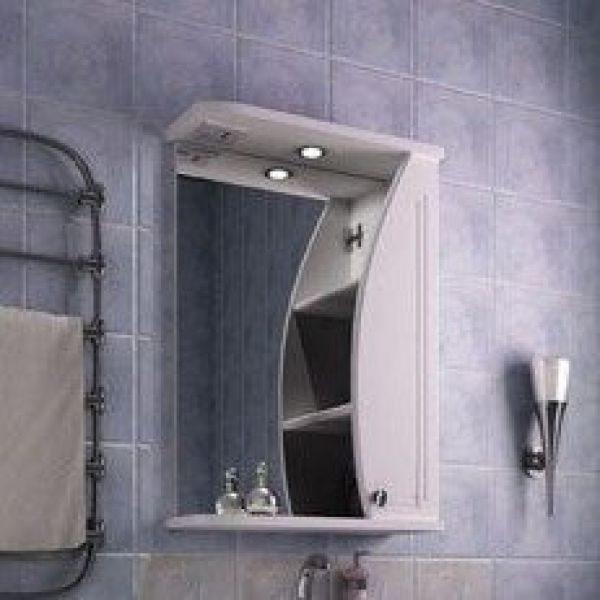 Зеркало для ванной комнаты ORIO Камея 50 (цвет белый)