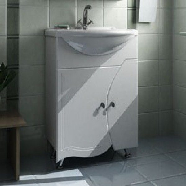 Тумба с раковиной для ванной комнаты ORIO Камея 60 (цвет белый)