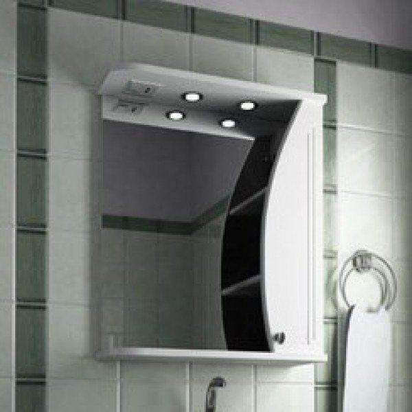 Зеркало для ванной комнаты ORIO Камея 60 (цвет белый)