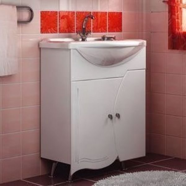 Тумба с раковиной для ванной комнаты ORIO Камея 70 (цвет белый)