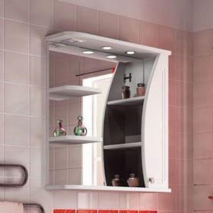 Зеркало для ванной комнаты ORIO Камея 70 (цвет белый)