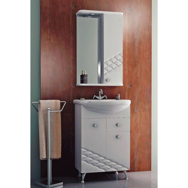 Комплект мебели для ванной комнаты ORIO Каспий 55 (цвет белый)