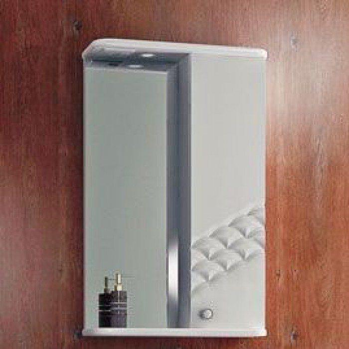 Зеркало для ванной комнаты ORIO Каспий 55 (цвет белый)