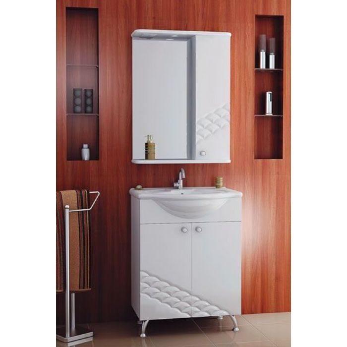 Комплект мебели для ванной комнаты ORIO Каспий 65 (цвет белый)