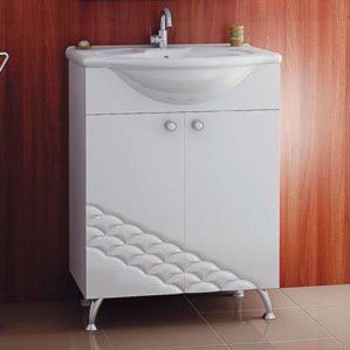 Тумба с раковиной для ванной комнаты ORIO Каспий 65 (цвет белый)