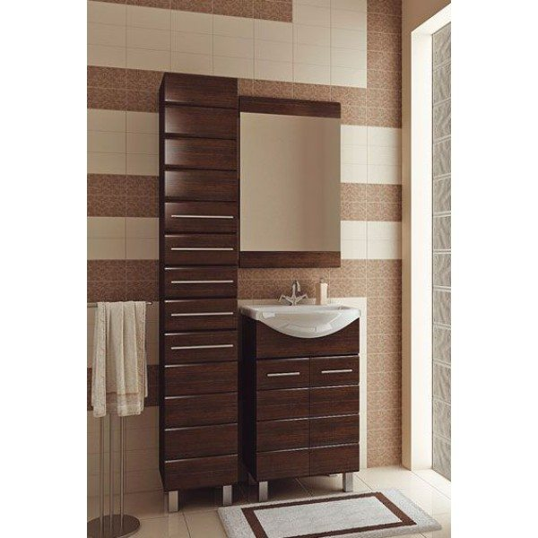 Комплект мебели для ванной комнаты ORIO Корро 55 (цвет венге)