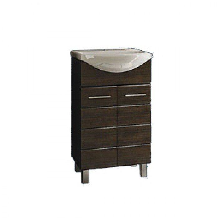 Тумба с раковиной для ванной комнаты ORIO Корро 55 (цвет венге)