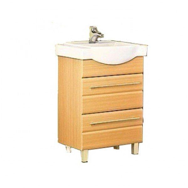 Тумба с раковиной для ванной комнаты ORIO Корро 60 (цвет кокос)