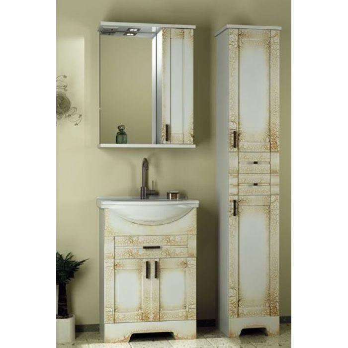 Комплект мебели для ванной комнаты ORIO Кристи 60 (цвет антик бежевый)