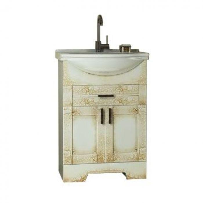 Тумба с раковиной для ванной комнаты ORIO Кристи 60 (цвет антик бежевый)