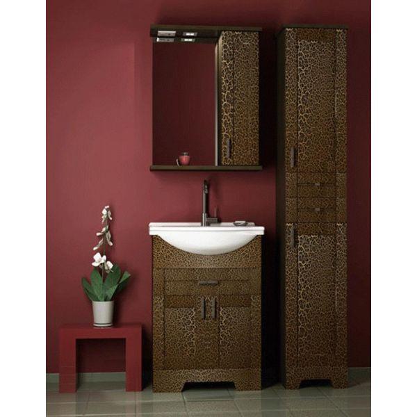 Комплект мебели для ванной комнаты ORIO Кристи 60 (цвет антик черный)