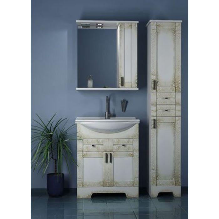 Комплект мебели для ванной комнаты ORIO Кристи 70 (цвет антик бежевый)