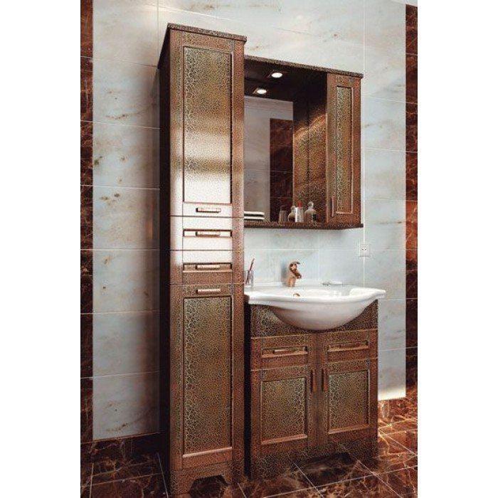Комплект мебели для ванной комнаты ORIO Кристи 70 (цвет антик черный)
