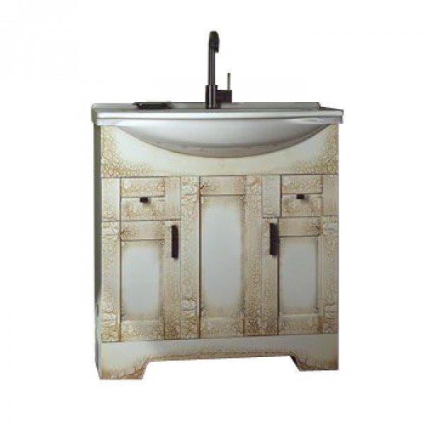 Тумба с раковиной для ванной комнаты ORIO Кристи 80 (цвет антик бежевый)