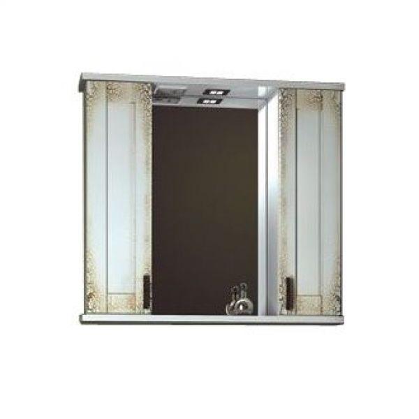 Зеркало для ванной комнаты ORIO ORIO Кристи 80 (цвет антик бежевый)