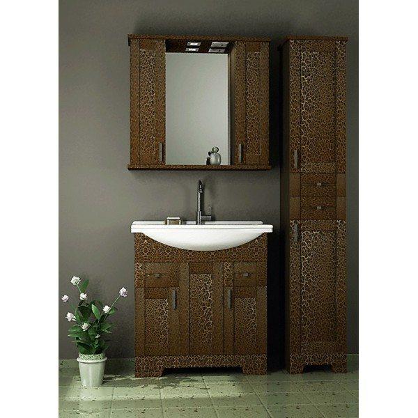 Комплект мебели для ванной комнаты ORIO Кристи 80 (цвет антик черный)