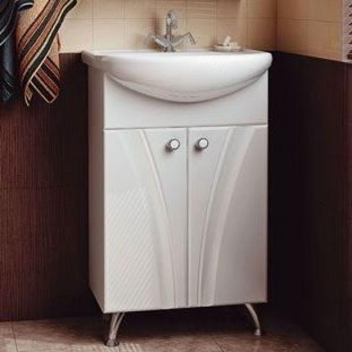 Тумба с раковиной для ванной комнаты ORIO Лотос 50 (цвет белый)