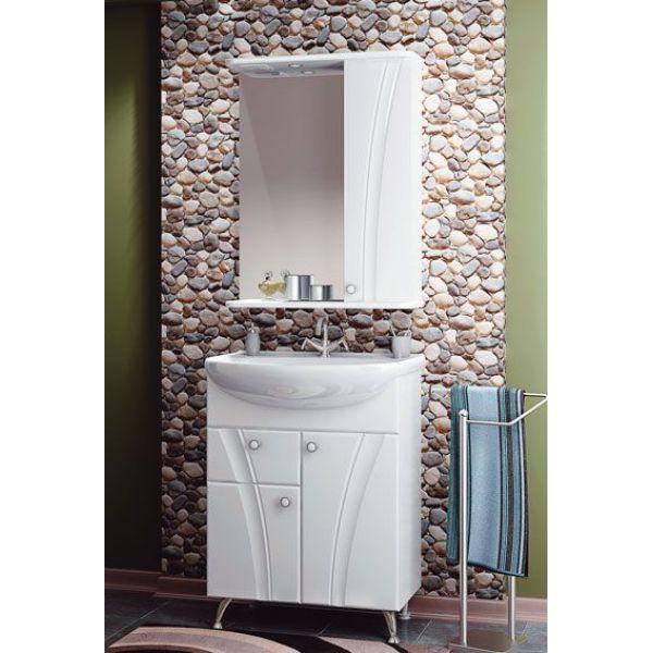 Комплект мебели для ванной комнаты ORIO Лотос 65 (цвет белый)