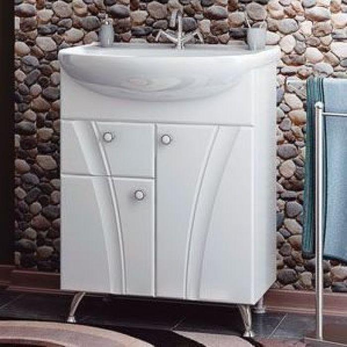 Тумба с раковиной для ванной комнаты ORIO Лотос 65 (цвет белый)