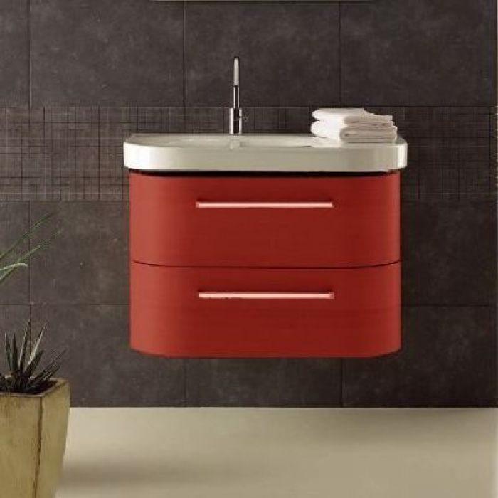Тумба для ванной Berloni Bagno DAY BS05 (отделка шпон, цвет 411 rosso-красный)