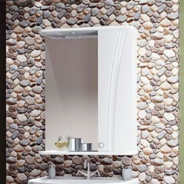 Зеркало для ванной комнаты ORIO ORIO Лотос 65 (цвет белый)