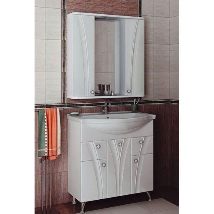 Комплект мебели для ванной комнаты ORIO Лотос 80 (цвет белый)