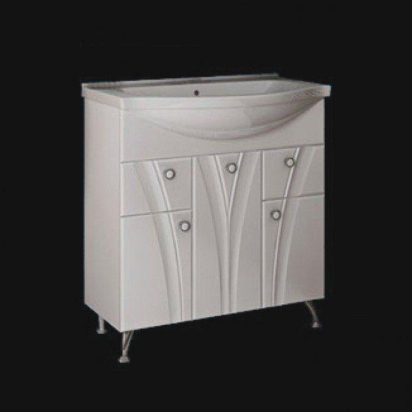 Тумба с раковиной для ванной комнаты ORIO Лотос 80 (цвет белый)