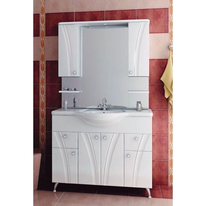 Комплект мебели для ванной комнаты ORIO Лотос 105 (цвет белый)